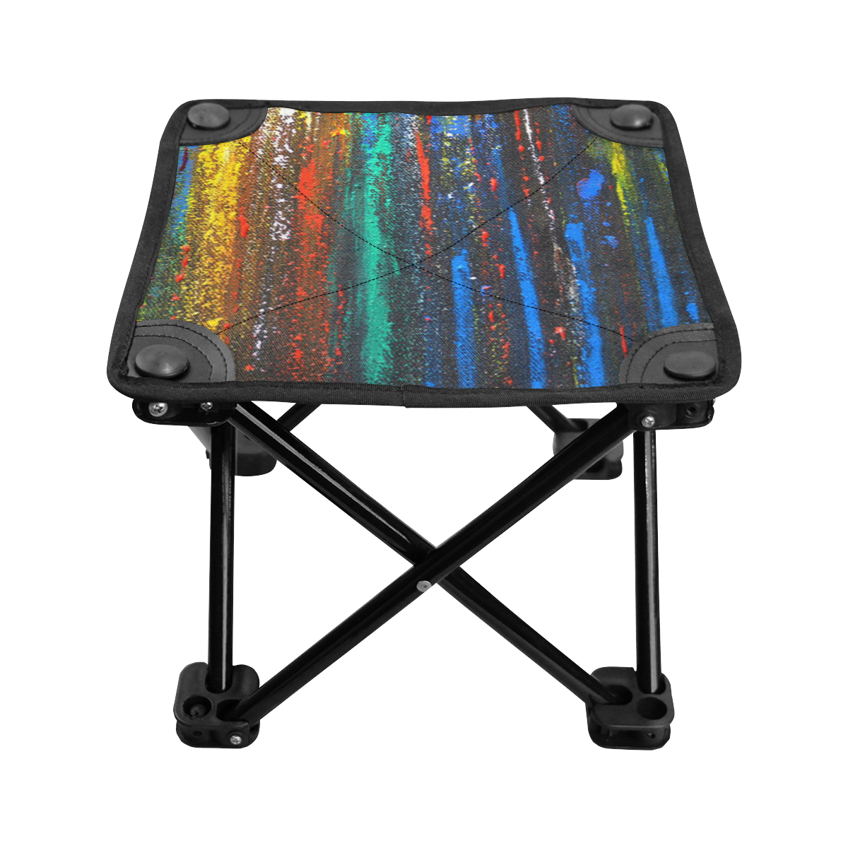 Colorful Abstract Paint Splatter Folding Fishing Stool