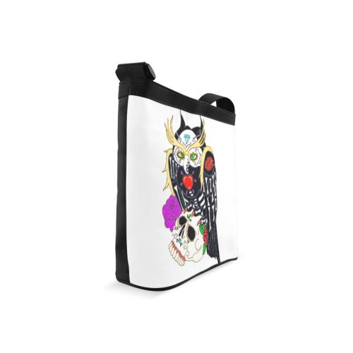 Owl Sugar Skull Crossbody Bags (Model 1613)