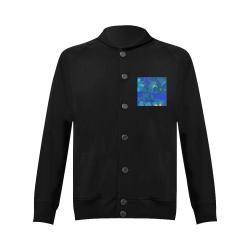 Abstract Blue Floral Design 2020 Women's Baseball Jacket (Model H12)