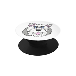 double bow girl shaggy pup Air Smart Phone Holder