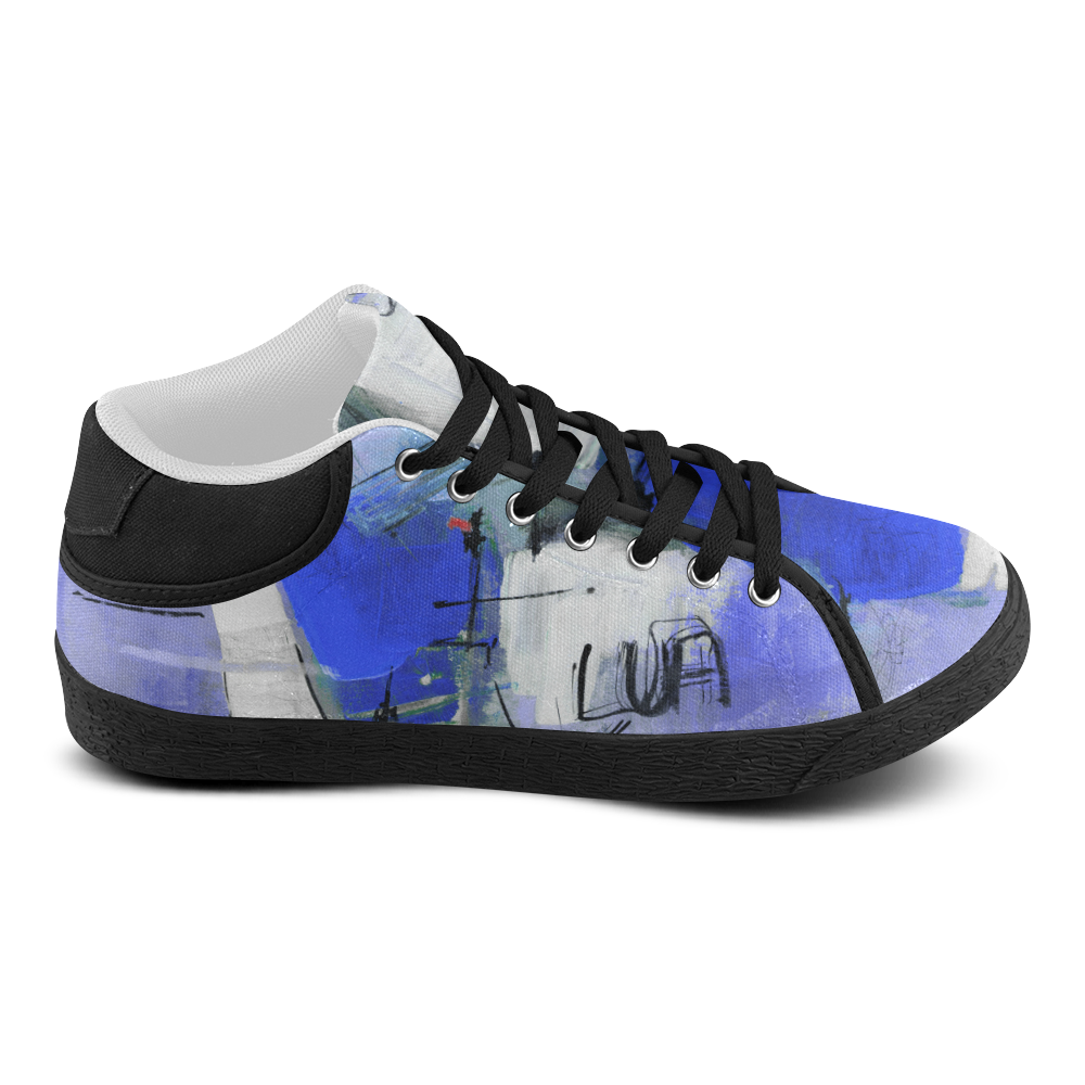 Lua blue Men's Chukka Canvas Shoes (Model 003)