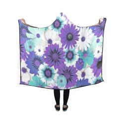 Spring Time Flowers 6 Hooded Blanket 50''x40''