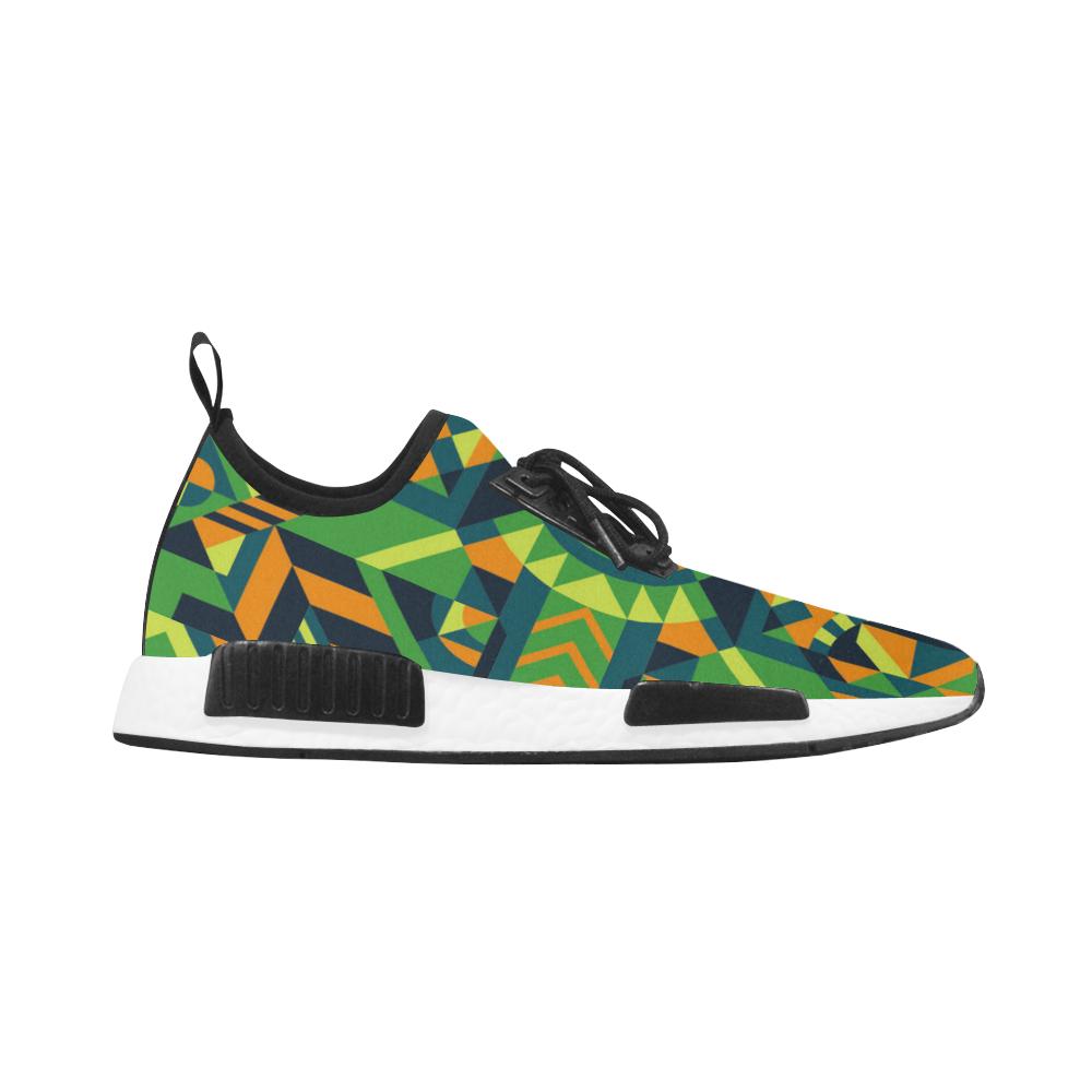 Modern Geometric Pattern Women's Draco Running Shoes (Model 025)