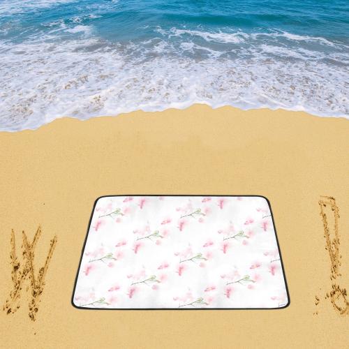 """Pattern Orchidées Beach Mat 78""""x 60"""""""