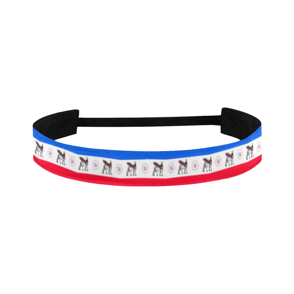 Lamassu and Assyrian Flag Sports Headband