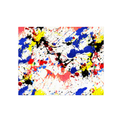 "Blue and Red Paint Splatter Poster 20""x16"""