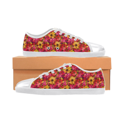 Flower Pattern Women's Canvas Shoes (Model 016)