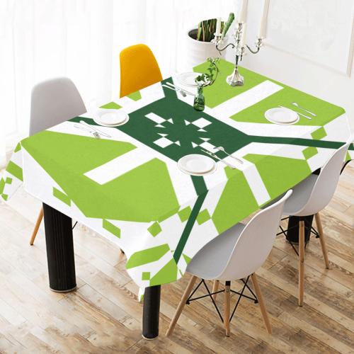 "portuguese ornament   azulejos Cotton Linen Tablecloth 60"" x 90"""