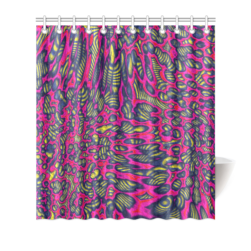 "70s chic 1 Shower Curtain 66""x72"""