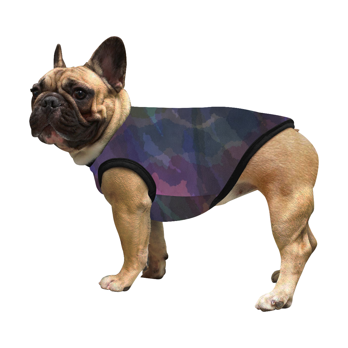 CAMOUFLAGE WATERCOLOR DOG All Over Print Pet Tank Top