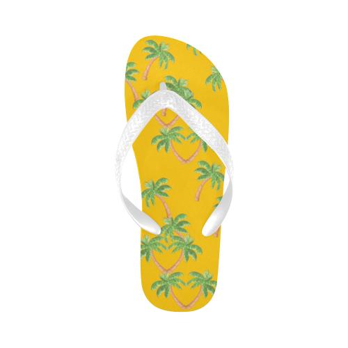 palm tree pattern heart more Flip Flops for Men/Women (Model 040)