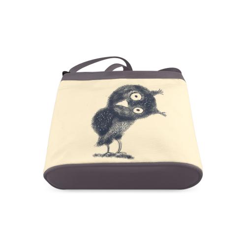 owl bag cute funny bird design by agnes laczo Crossbody Bags (Model 1613)