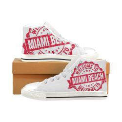 Miami Men's Classic High Top Canvas Shoes (Model 017)