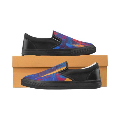 oil_l Women's Slip-on Canvas Shoes (Model 019)