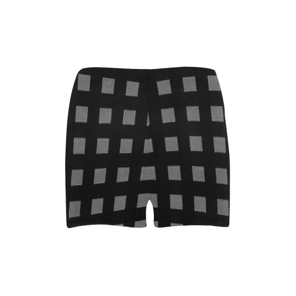 Mod Black Gray Checks Briseis Skinny Shorts (Model L04)