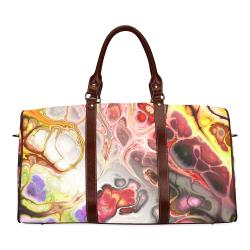 Colorful Marble Design Waterproof Travel Bag/Large (Model 1639)