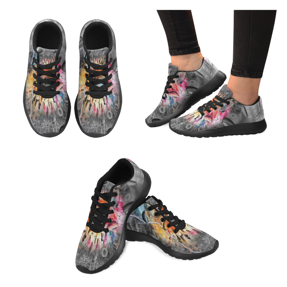 Space of Colors by Nico Bielow Men's Running Shoes (Model 020)