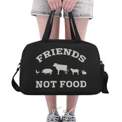 Friends Not Food (Go Vegan) Fitness Handbag (Model 1671)