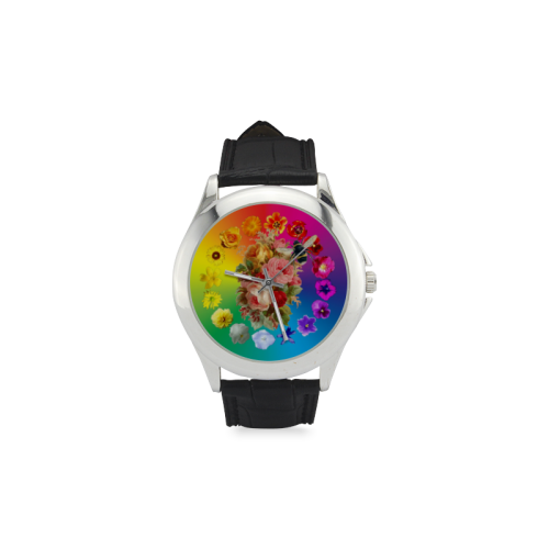 A Rainbow Day Women's Classic Leather Strap Watch(Model 203)