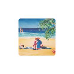 BEACH DAY Square Coaster
