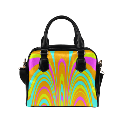 Groovy Retro Tangerine Turquoise Yellow Pink Shoulder Handbag (Model 1634)