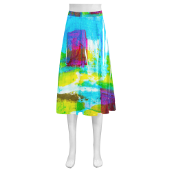 Abstrac Mnemosyne Women's Crepe Skirt (Model D16)