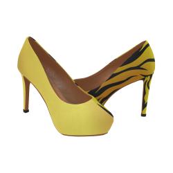 tigre dorado Women's High Heels (Model 044)