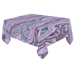"Purple marble Cotton Linen Tablecloth 60""x 84"""