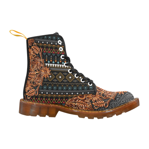 Southwest Leather Bohemian Grey Martin Boots For Women Model 1203H