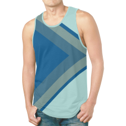Classic Blue Layers on Bleached Coral New All Over Print Tank Top for Men (Model T46)