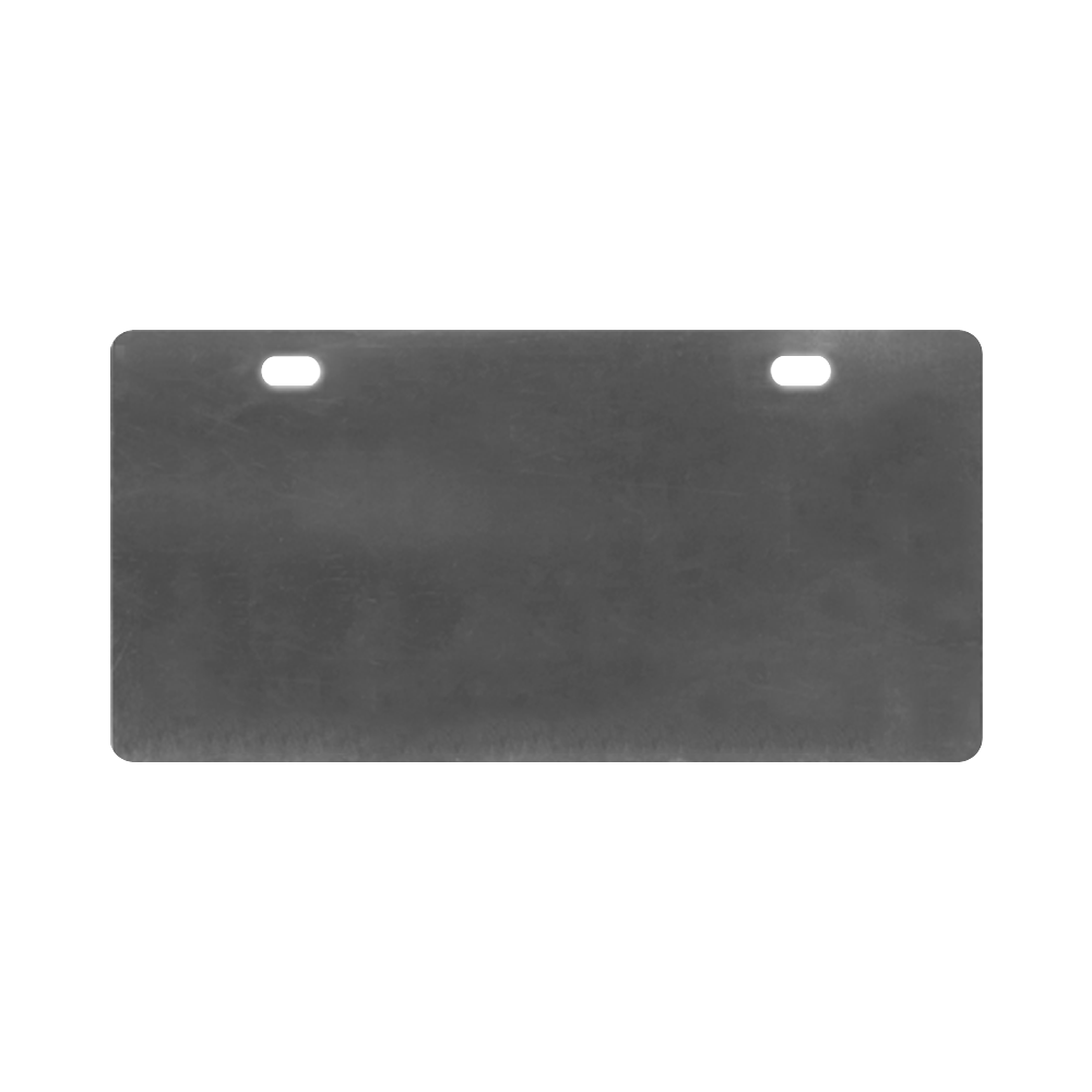 Black White Tiles License Plate