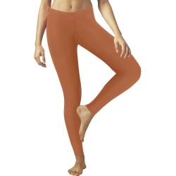 Shiny Copper Metallic Low Rise Leggings (Invisible Stitch) (Model L05)