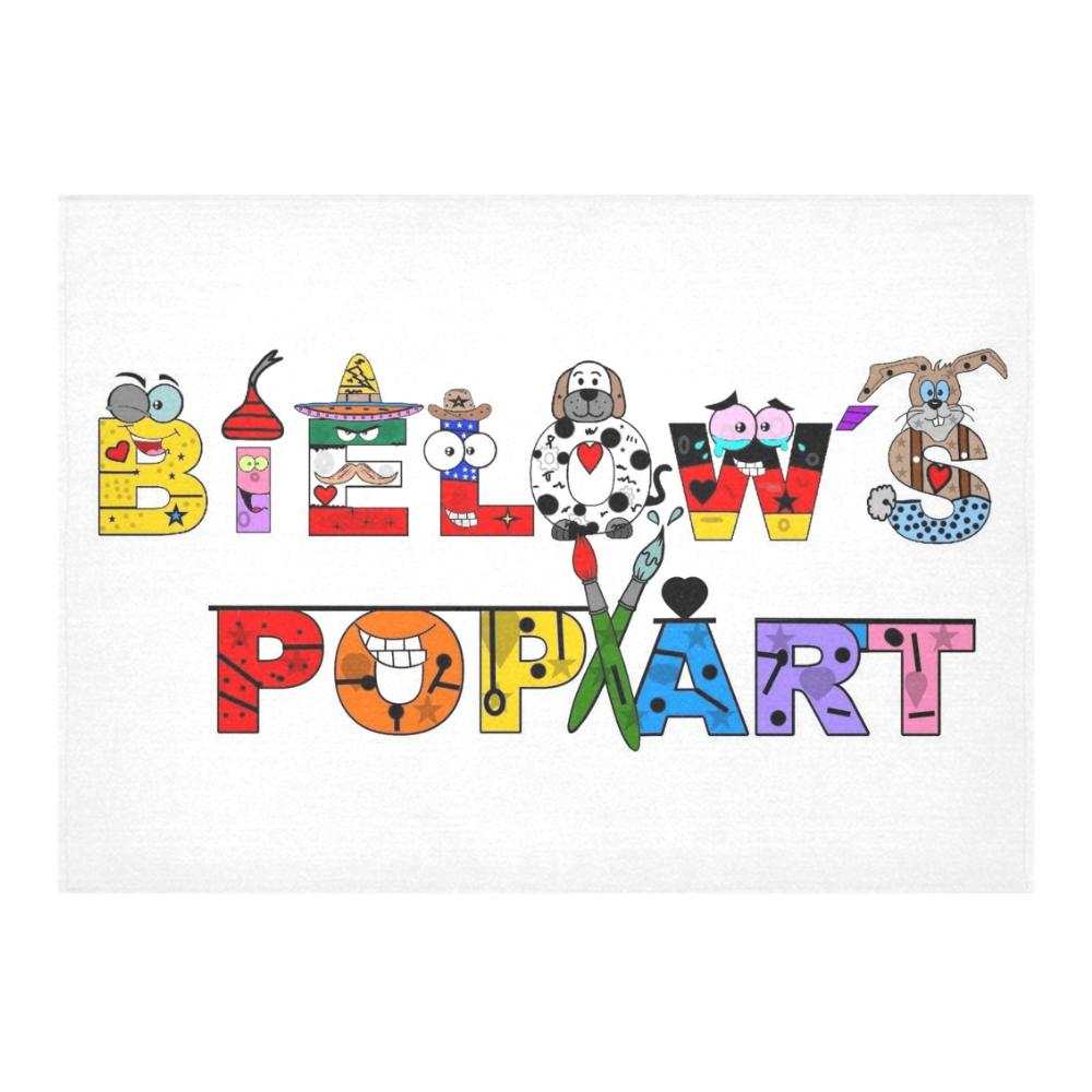 "Pop Art by Nico Bielow Cotton Linen Tablecloth 60""x 84"""