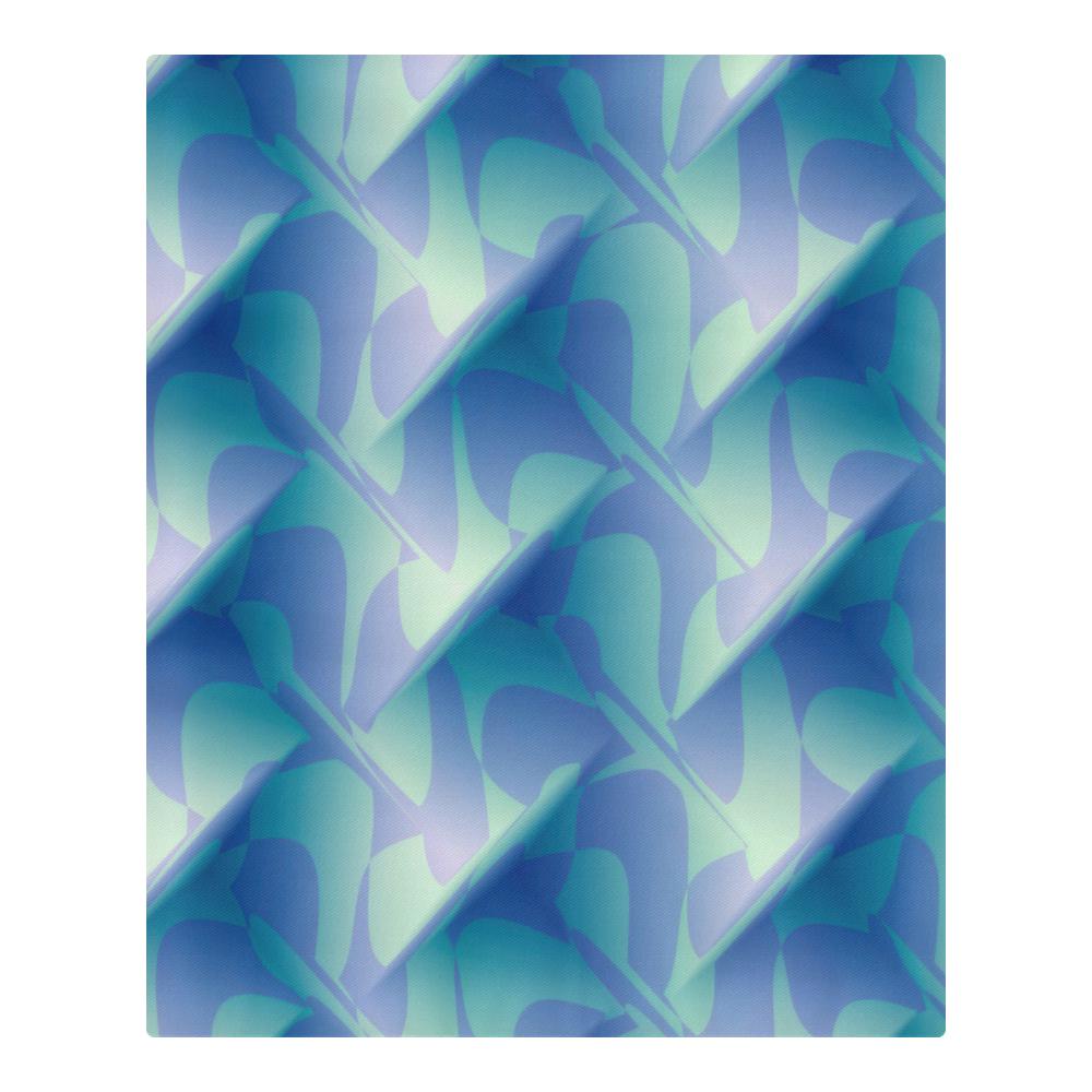 Subtle Blue Cubik 3-Piece Bedding Set