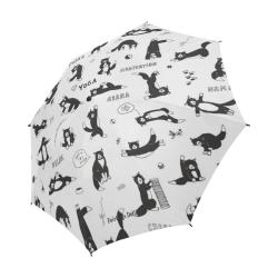 Fairlings Delight's Parasol Collection- Yoga Cats 53086a3 Semi-Automatic Foldable Umbrella (Model U05)
