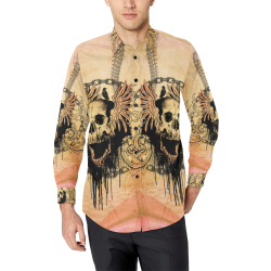 Amazing skull with wings Men's All Over Print Casual Dress Shirt (Model T61)