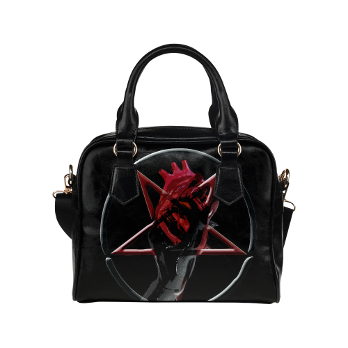 LHB Demon Heart Gothic Occult Art Shoulder Handbag (Model 1634)