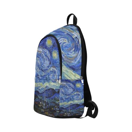 Woke Starry Night Art Fabric Backpack for Adult (Model 1659)