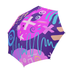 Delight's Parasol Collection- Pattern Abstract 53086a10 Semi-Automatic Foldable Umbrella (Model U05)