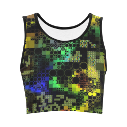 funny mix of shapes  by JamColors Women's Crop Top (Model T42)