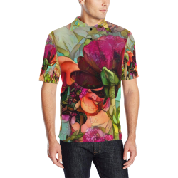 garden of the unknown 1b Men's All Over Print Polo Shirt (Model T55)