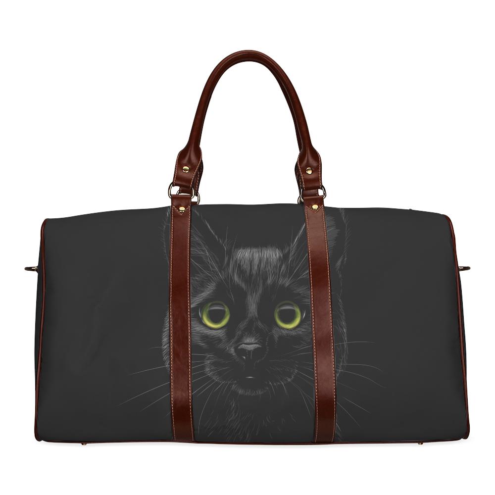 Black Cat Waterproof Travel Bag/Small (Model 1639)