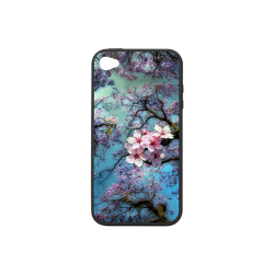 Cherry blossomL Rubber Case for iPhone 4/4s