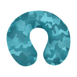 camouflage teal U-Shape Travel Pillow