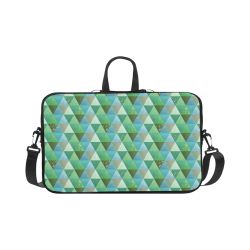 Triangle Pattern - Green Teal Khaki Moss Macbook Pro 17""