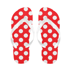 Polka dot flip flops Flip Flops for Men/Women (Model 040)
