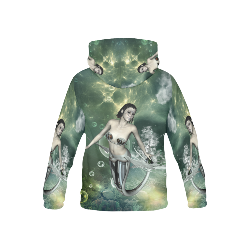 Awesome mermaid in the deep ocean All Over Print Hoodie for Kid (USA Size) (Model H13)