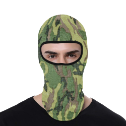 Military Camo Green Woodland Camouflage All Over Print Balaclava
