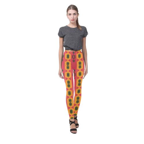 Tribal shapes in retro colors (2) Cassandra Women's Leggings (Model L01)