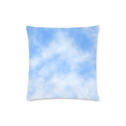 "Cloudy Sky Custom Zippered Pillow Case 16""x16""(Twin Sides)"